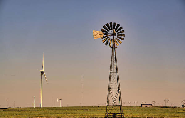 Photograph - The Old And The New #windmills by Andrea Anderegg