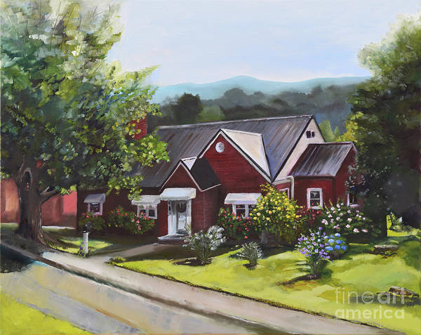 Painting - The Old Baptist Parsonage-heaven On North Ave by Jan Dappen