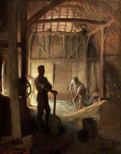 Wall Art - Painting - The Old Barn by Sir George Clausen