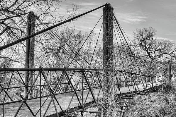Photograph - The Old Bluff Dale Bridge Black And White by JC Findley