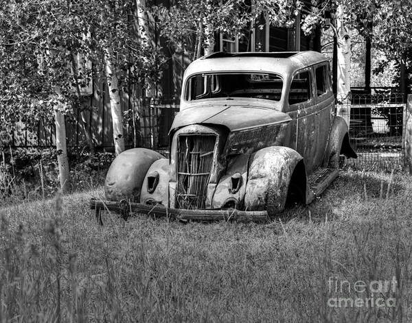 Wall Art - Photograph - The Old Car by Steve Brown