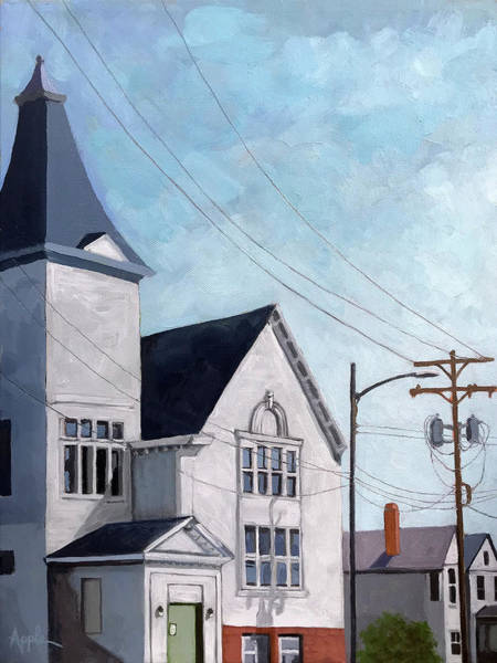 Wall Art - Painting - The Old Church by Linda Apple