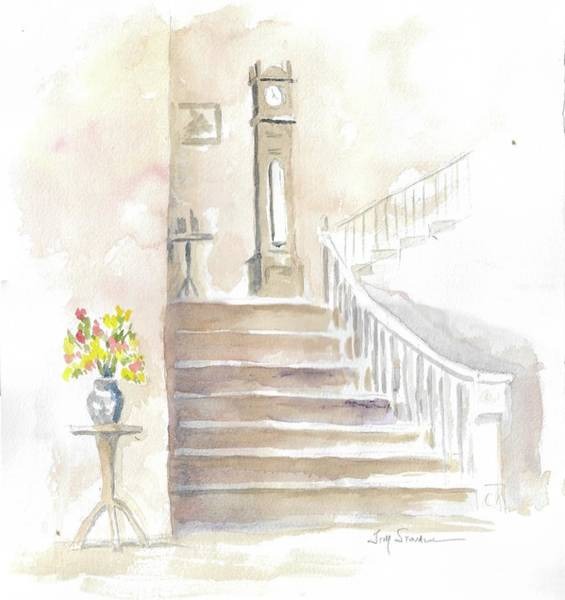 Grandfather Clock Painting - The Old Clock by Jim Stovall