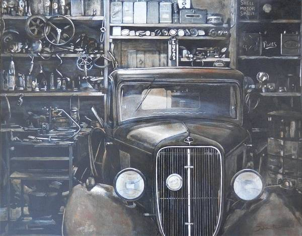 Painting - The Old Garage by John Neeve