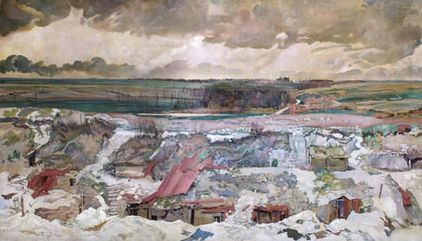 Wall Art - Painting - The Old German Front Line, Arras, 1916 by Charles Sims