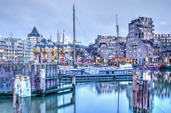 Photograph - The Old Harbour, Early In The Morning by Frans Blok