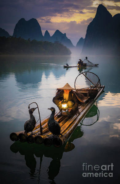 Wall Art - Photograph - The Old Li River Fisherman by Inge Johnsson