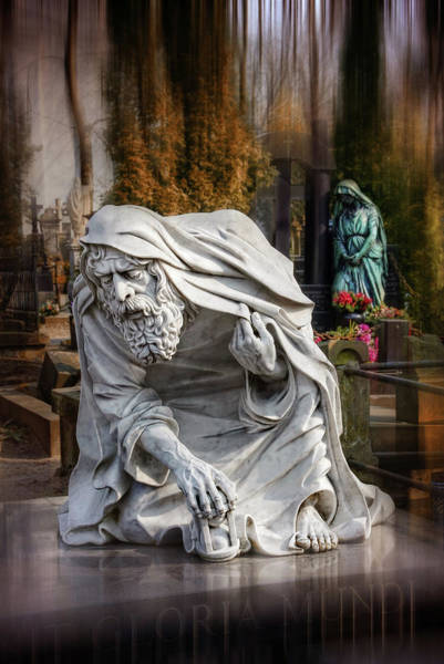 Gloria Photograph - The Old Man Of Powazki Cemetery Warsaw  by Carol Japp