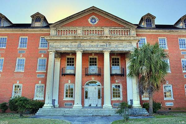 Photograph - The Old Medical School At The University Of South Carolina by Lisa Wooten