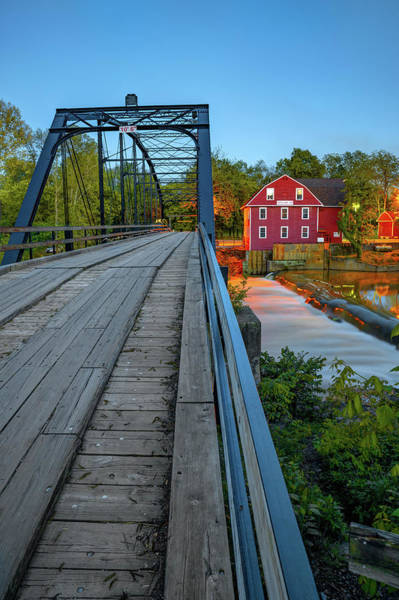 Photograph - The Old Mill And Bridge Over War Eagle Creek - Northwest Arkansas by Gregory Ballos
