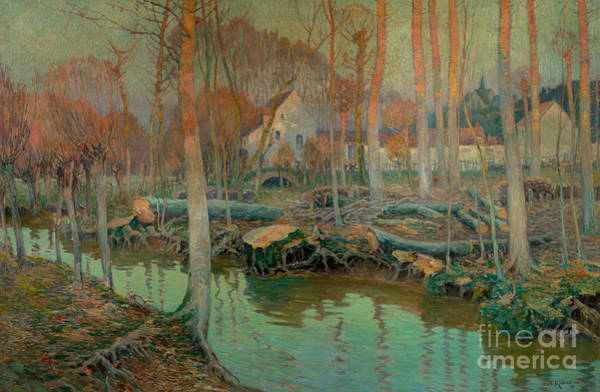 Wall Art - Painting - The Old Mill In Giverny, 1899  by Vaclav Radimsky