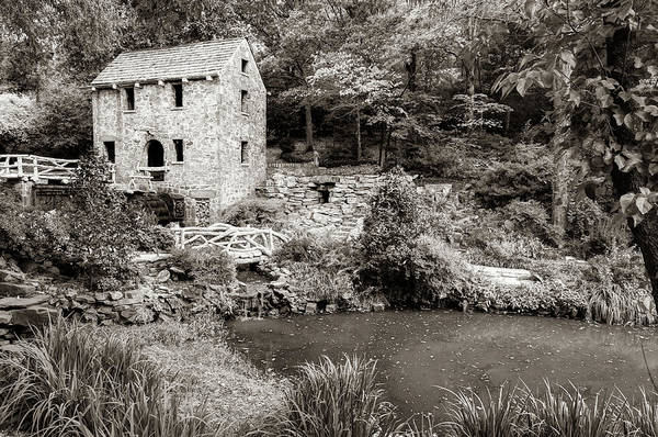 Photograph - The Old Mill In North Little Rock - Pugh's Mill 1832 Sepia by Gregory Ballos