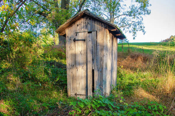 Wall Art - Photograph - The Old Outhouse - Valley Forge by Bill Cannon