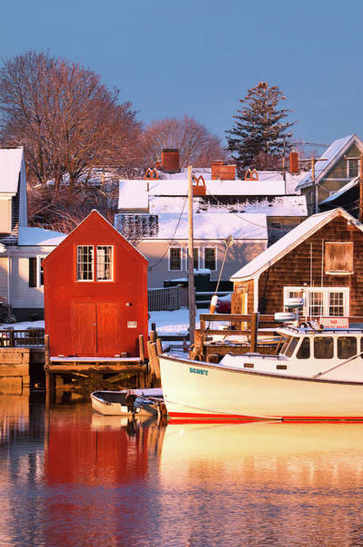 Wall Art - Photograph - The Old Red Boathouse by Eric Gendron