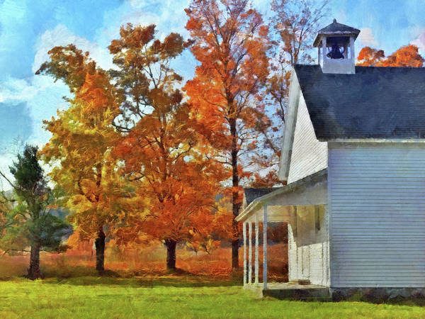 Digital Art - The Old Schoolhouse At Port Oneida by Digital Photographic Arts