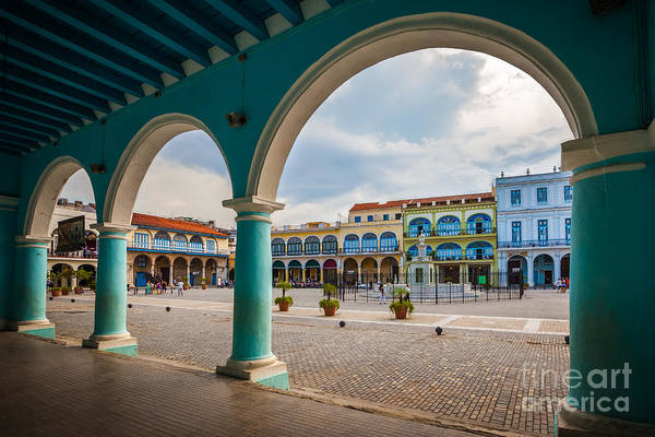 The Old Square Or Plaza Vieja From The Art Print