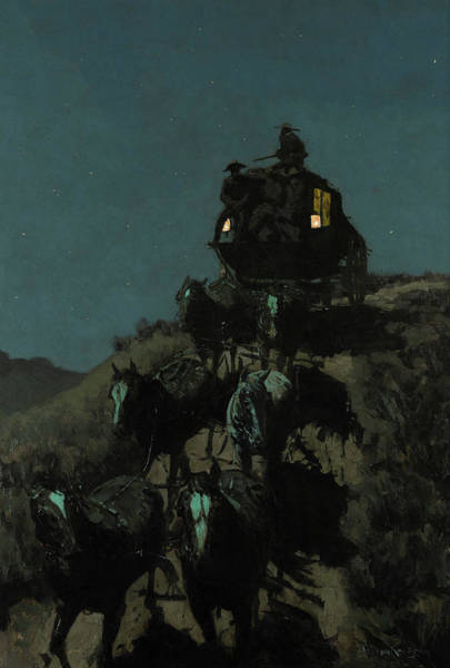 Wall Art - Painting - The Old Stage-coach Of The Plains, 1901 by Frederic Remington