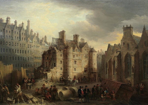Wall Art - Painting - The Old Tolbooth, Edinburgh by Alexander Nasmyth