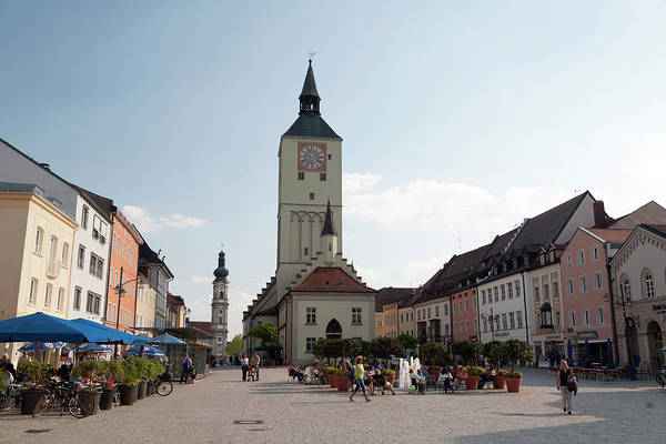 The Clock Tower Photograph - The Old Town Hall And  Market Square by Chris Mellor