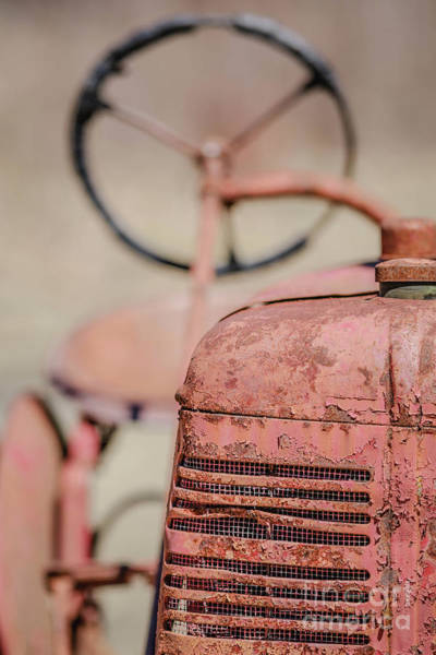 Wall Art - Photograph - The Old Work Horse - Abandoned Red Tractor On An Old Vermont Farm by Edward Fielding