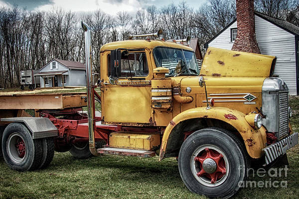 Wall Art - Photograph - The Old Yellow T  by Steven Digman