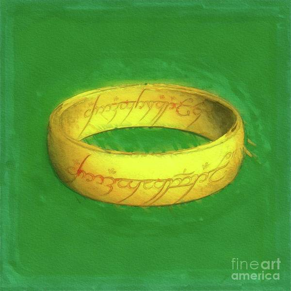 Wall Art - Painting - The One Ring by Raphael Terra