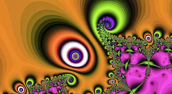 Digital Art - The Orange Eye Of The Magician by Don Northup