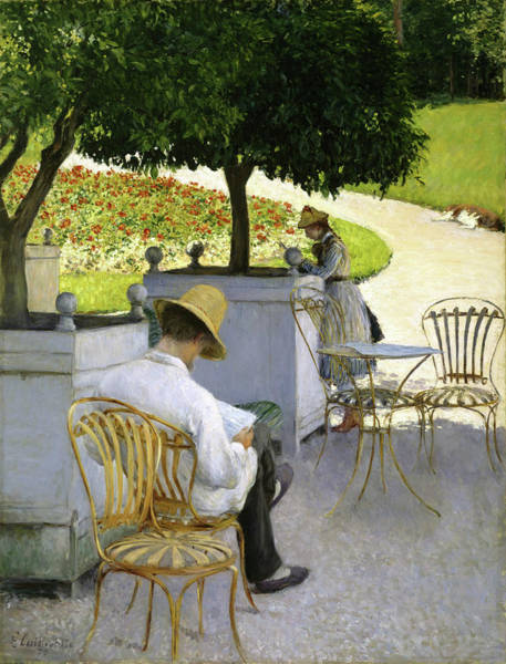 Wall Art - Painting - The Orange Trees - Digital Remastered Edition by Gustave Caillebotte