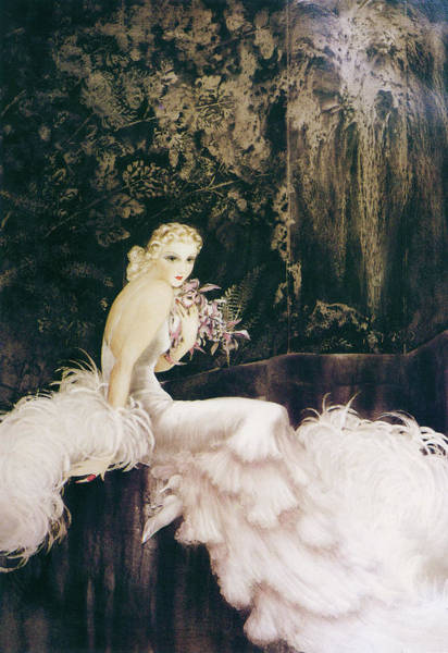 Wall Art - Painting - The Orchid - Digital Remastered Edition by Louis Icart