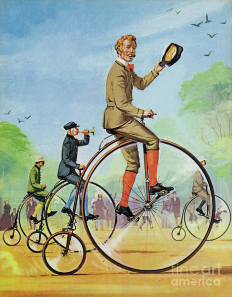 Wall Art - Painting - The Ordinary Of Penny Farthing by Angus McBride