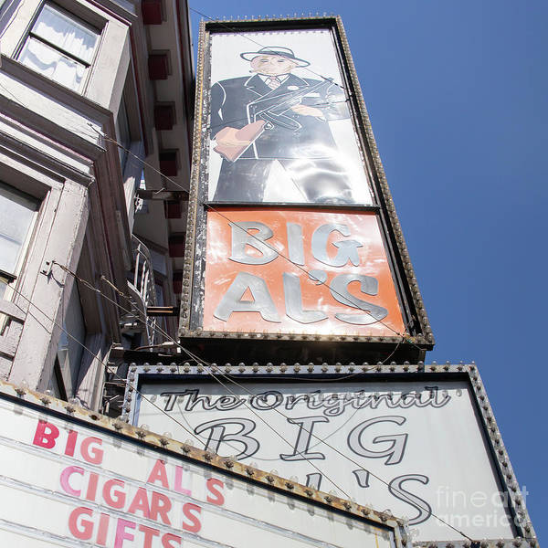Photograph - The Original Big Als Adult Strip Clubs On Broadway San Francisco R708 Sq by Wingsdomain Art and Photography