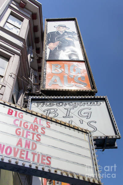 Photograph - The Original Big Als Adult Strip Clubs On Broadway San Francisco R708 by Wingsdomain Art and Photography