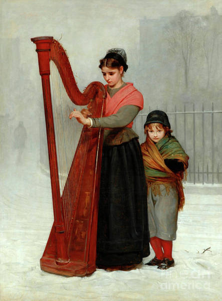 Wall Art - Painting - The Orphans, 1870 by Philip Hermogenes Calderon