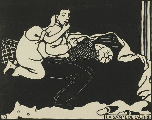 Wall Art - Relief - The Other's Health, Plate Nine From Intimacies by Felix Edouard Vallotton