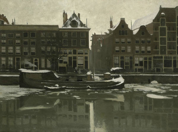 Painting - The Oude Schans In Amsterdam by Willem Witsen