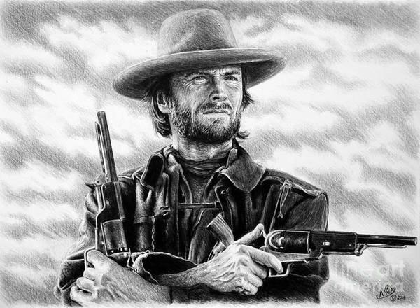 Clint Eastwood Drawing - The Outlaw Josey Wales by Andrew Read