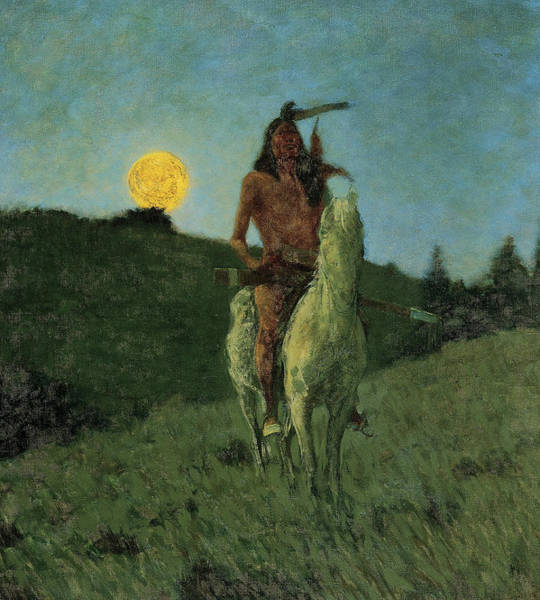 Wall Art - Painting - The Outlier, 1909 by Frederic Sackrider Remington