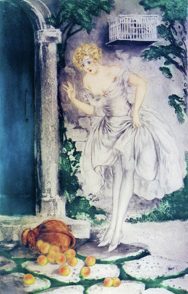 Wall Art - Painting - The Overturned Basket - Digital Remastered Edition by Louis Icart