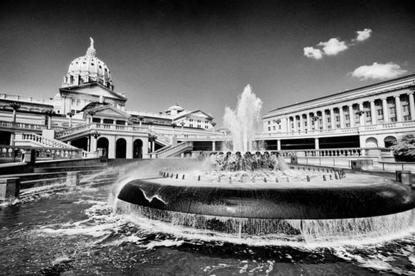 Photograph - The Pa Capital Fountain by Paul W Faust - Impressions of Light