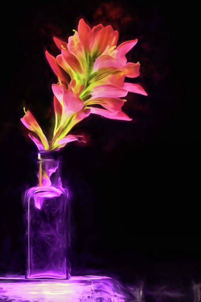 Photograph - The Paintbrush Flower Still Life by JC Findley