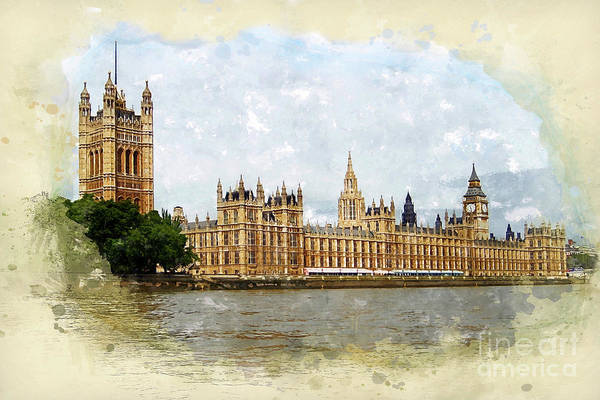 Palace Of Westminster Wall Art - Painting - The Palace Of Westminster by John Edwards