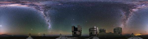 Wall Art - Painting - The Panorama View Of Immersive Paranal World By Eso by Celestial Images