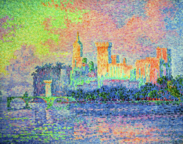 Neo-impressionism Wall Art - Painting - The Papal Palace, Avignon - Digital Remastered Edition by Paul Signac