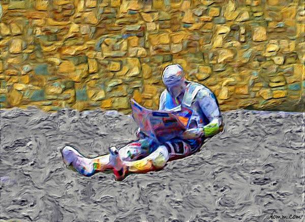 Digital Art - The Paper Reader by Rein Nomm
