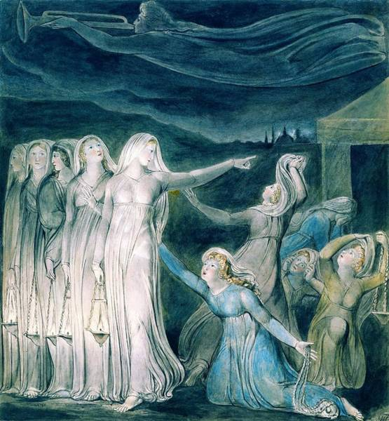 Wall Art - Painting - The Parable Of The Wise And Foolish Virgins - Digital Remastered Edition by William Blake