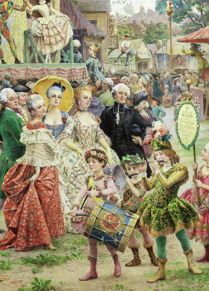 Wall Art - Painting - The Parade At Nicolet, Detail by Maurice Leloir
