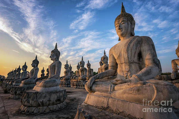 Wall Art - Photograph - The Park Of Buddha Statue by Phongthorn Poolruang