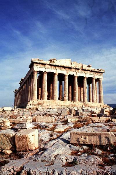 Ancient Greek Photograph - The Parthenon At The Acropolis, Athens by Myloupe/uig