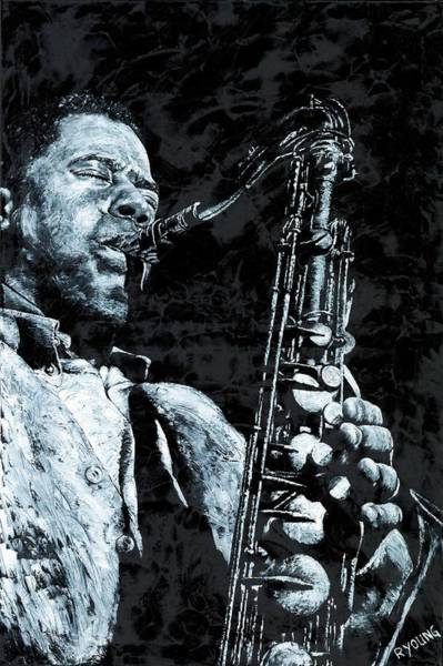 Wall Art - Painting - The Passion Of Sax by Richard Young