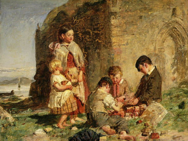 Church Of Scotland Wall Art - Painting - The Past And The Present, 1860 by William McTaggart